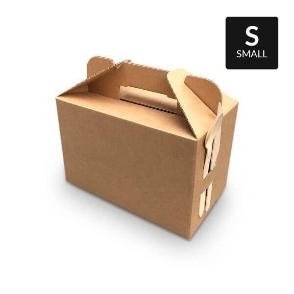 Petite boîte à pique-nique avec poignée