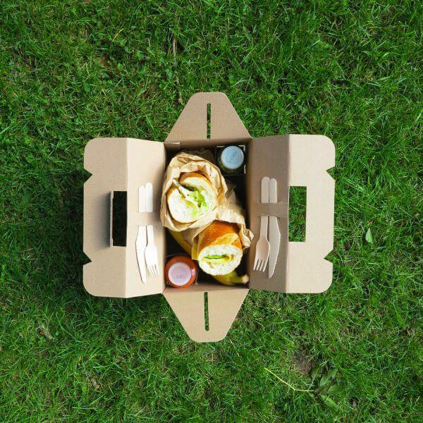 Boîte petit-déjeuner pour la restauration en carton